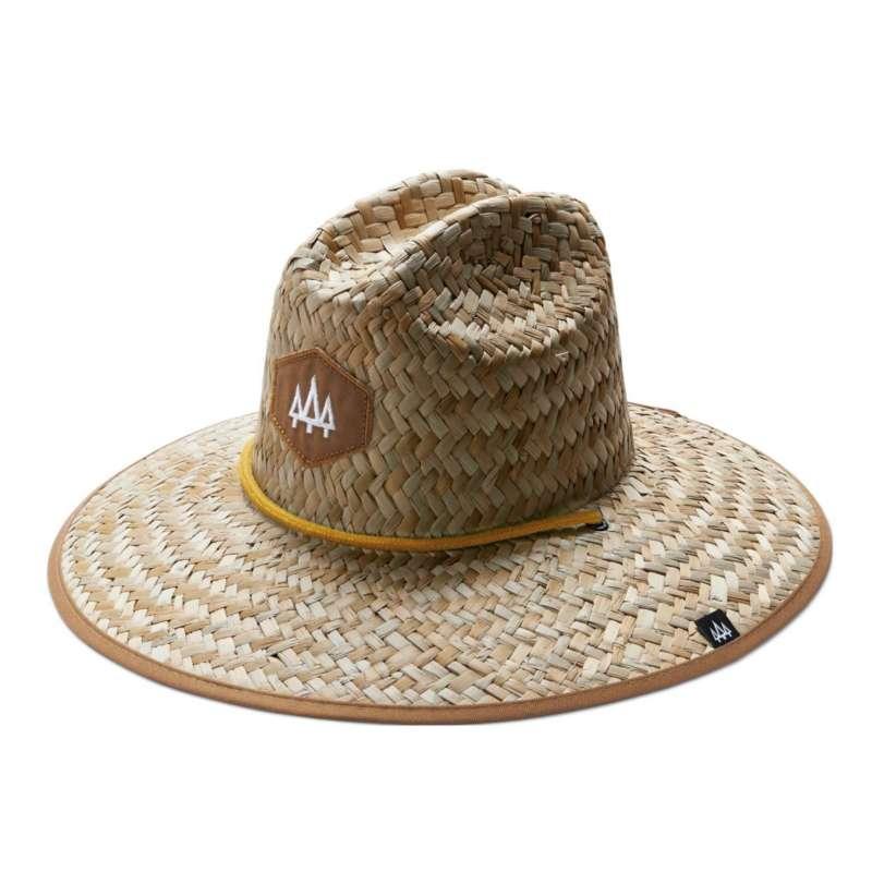 Adult Hemlock Hat Co Solid Brim Straw Hat