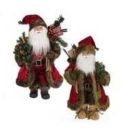 Midwest-CBK 2 pc ppk Woodland Collectible Santas