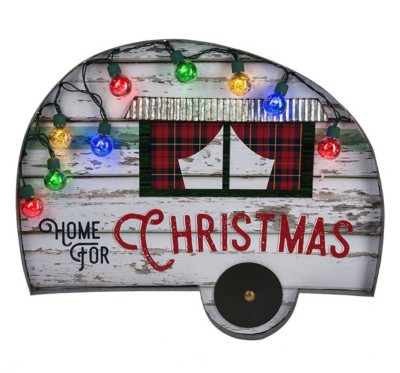 Midwest CBK Home For Christmas Camper Wall Decor