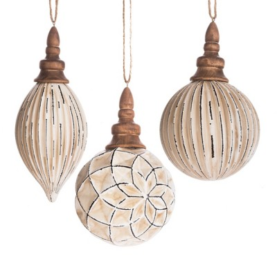 Midwest-CBK Assorted White Ball & Drop Ornament