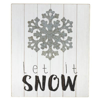 "Midwest-CBK ""Let It Snow"" with Layered Snowflake Wall Decor"