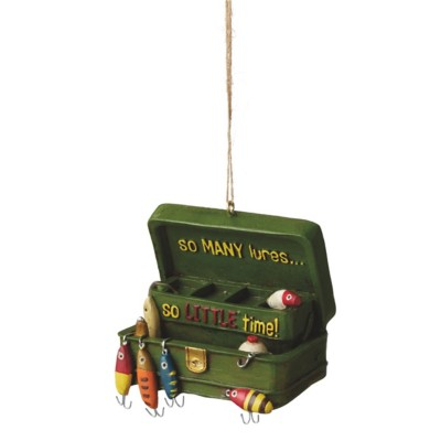 """Midwest-CBK """"So Many Lures So Little Time"""" Tackle Box Ornament"""