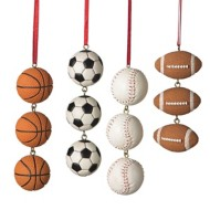 Midwest-CBK Assorted Sports Ball Swag Ornament