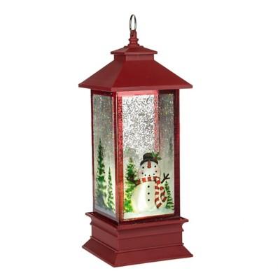 Midwest-CBK Lighted LED Shimmer Snowman Lantern