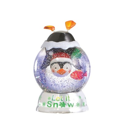 """Midwest-CBK Lighted LED Shimmer """"Let it Snow"""" Penguin Dome"""