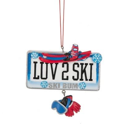 """Midwest-CBK """"LUV 2 SKI Ski Bum"""" Ornament"""