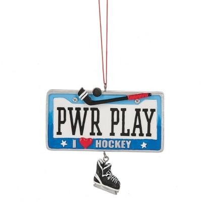 "Midwest-CBK ""PWR PLAY I Heart Hockey"" Hockey Ornament"