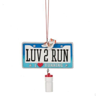"Midwest-CBK ""LUV 2 RUN I Heart Running"" Running Ornament"