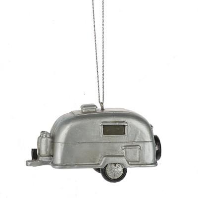 Midwest-CBK Silver Camper Ornament