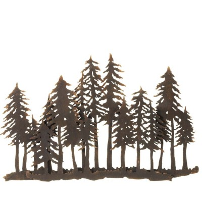 Midwest-CBK Layered Forest Silhouette Wall Decor