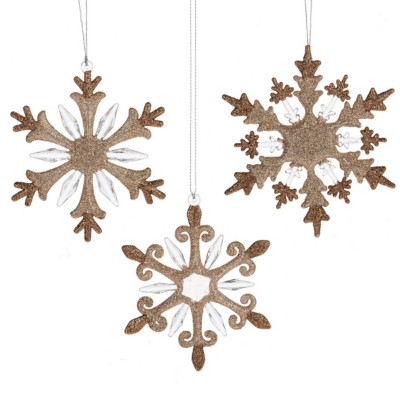 Midwest-CBK Assorted Glittered Snowflake Ornament