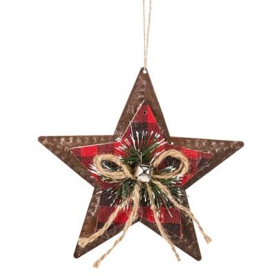 Midwest-CBK Plaid Star Ornament