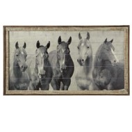 Midwest-CBK Framed Slat Horses Wall Decor
