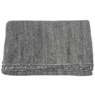 Midwest-CBK Grey Marled Seed Stitch Knit Throw