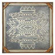 Midwest-CBK Framed Embossed Tribal Wall Decor
