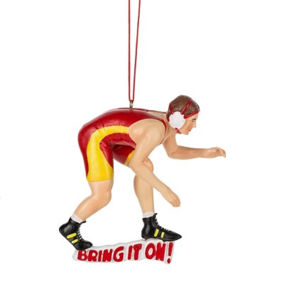 "Midwest-CBK ""Bring it On!"" Wrestler Ornament"
