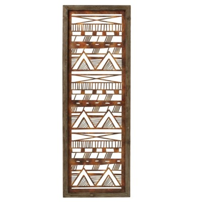 Midwest-CBK Rusted Framed Tribal Wall Decor