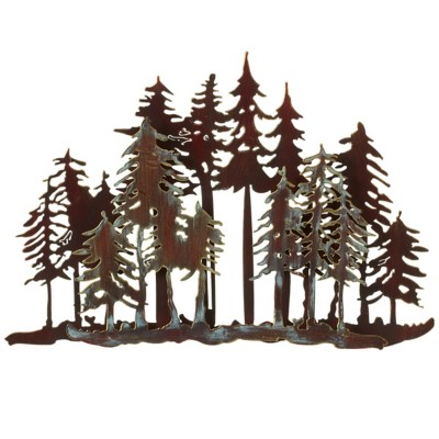 Midwest-CBK Small Layered Forest Wall Decor