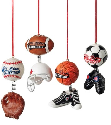 Midwest-CBK Assorted Sport Ball with Dangle Ornament