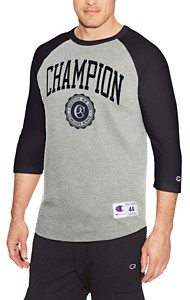 Men's Champion Heritage Baseball Slub 3/4 Sleeve Shirt