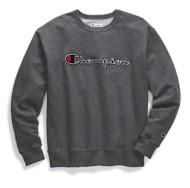 Men's Champion Script Logo Crew Sweatshirt