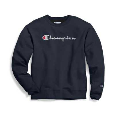 Men's Champion Powerblend Script Graphic Pullover Sweatshirt