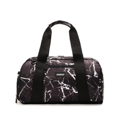 Women's Vooray Black Marble Burner Gym Duffel