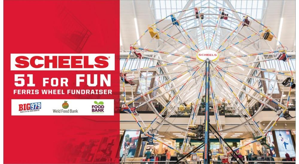 Johnstown SCHEELS 51 for Fun Ferris Wheel Fundraiser
