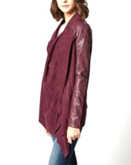 Women's Blank NYC Faux Leather Drape Jacket