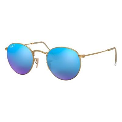 Ray-Ban Round Metal Polarized Sunglasses