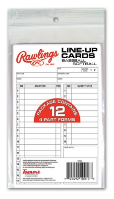 Rawlings Line-Up Card Refill Pack