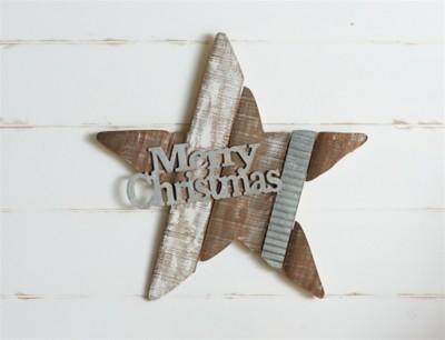 Melrose International Wood & Metal Merry Christmas Star