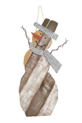 "Melrose International Wood & Metal 24"" Snowman"