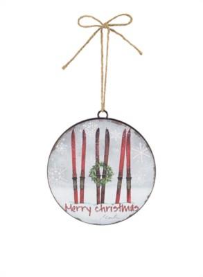 "Melrose International 6"" Skis Disc Ornament"