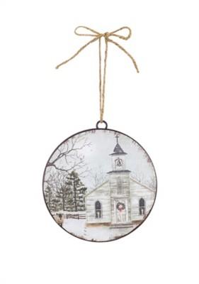 "Melrose International 6"" Church Disc Ornament"
