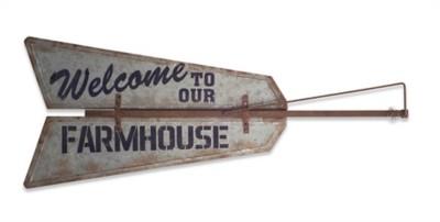 Melrose International Welcom to our Farmhouse Sign