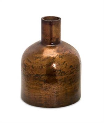 "Melrose International 12"" Bronze Glass Vase"