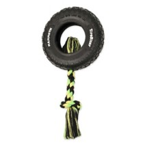MAMMOTH TireBiter Tires with Rope Dog Toy