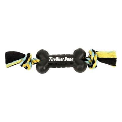 MAMMOTH TireBiter Bone with Rope Dog Toy