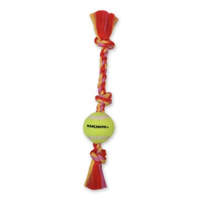 MAMMOTH 3 Knot Flossy Chew with 1 Tennis Ball Dog Toy