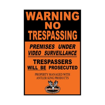 Antler King No Trespassing Sign