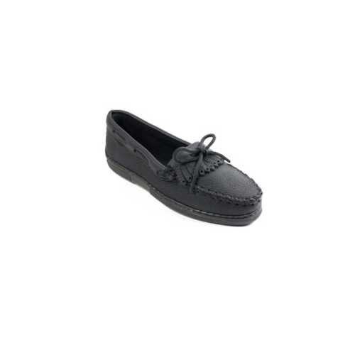 Women's Minnetonka Moosehide Kilty Hardsole Moc Shoes