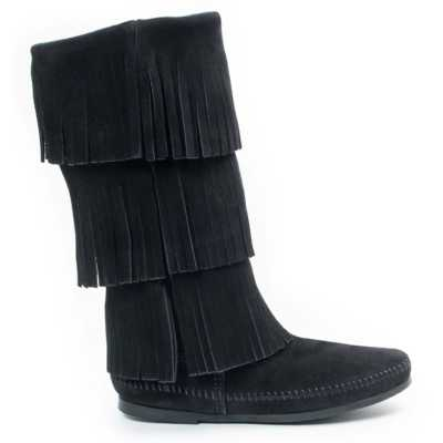 Women's Minnetonka 3 Layer Fringe Boots