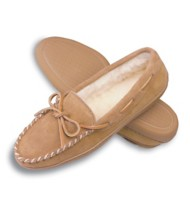Men's Minnetonka Pile Lined Hardsole Slippers