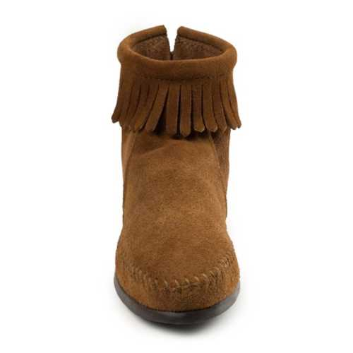 Women's Minnetonka Back Zip Hardsole Boots