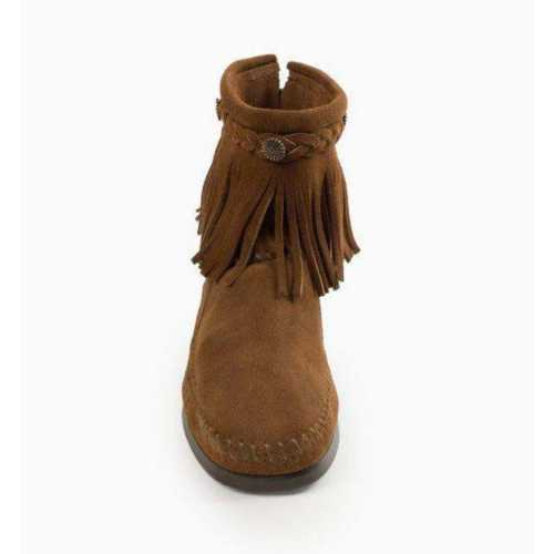 Women's Minnetonka Hi Top Back Zip Boots