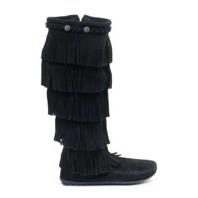 Women's Minnetonka 5 Layer Fringe Boots