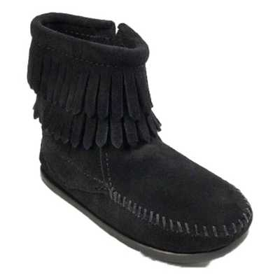 Toddler Minnetonka Double Fringe Side Zip Boots