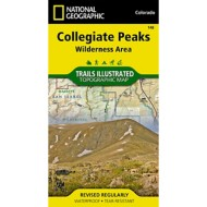 National Geographic Collegiate Peaks Wildereness Trail Map