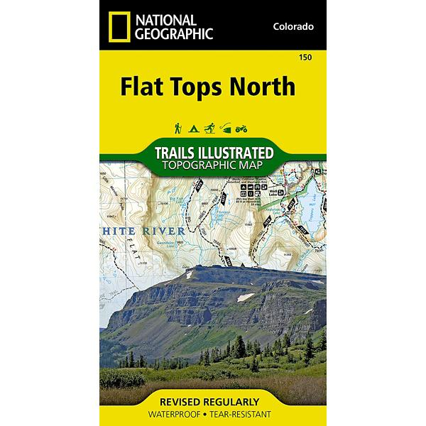 National Geographic Flat Tops North Trail Map